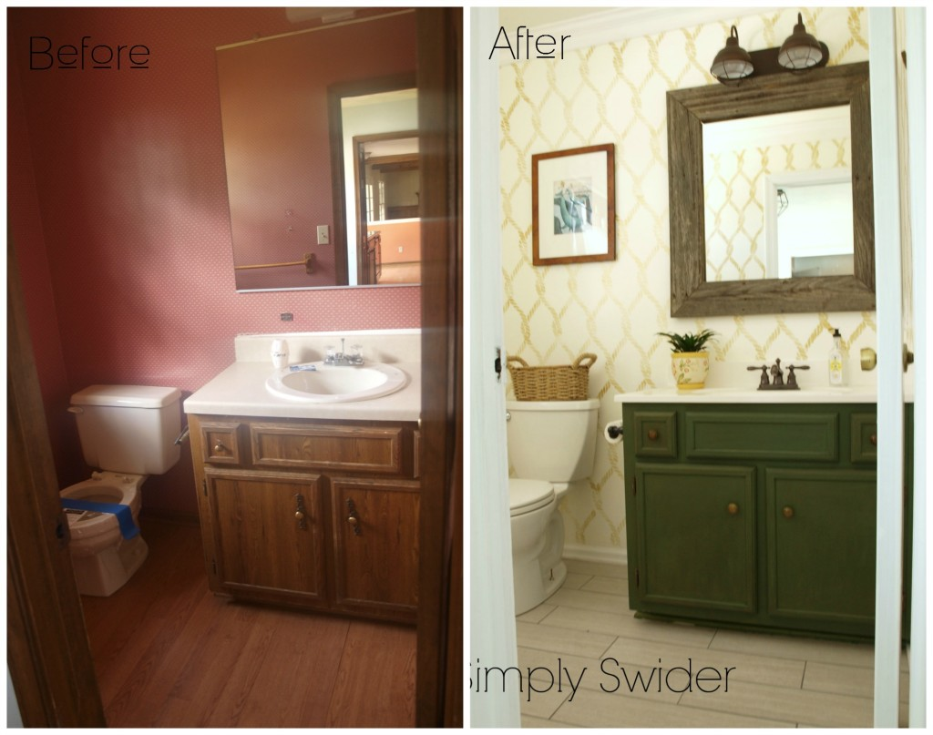 Ikea Bathroom Before After bathroom before after nautical and simply swider throughout design
