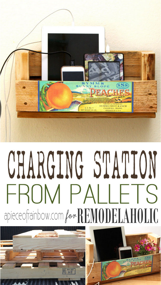 Make A Charging Station From Pallet Wood Scraps