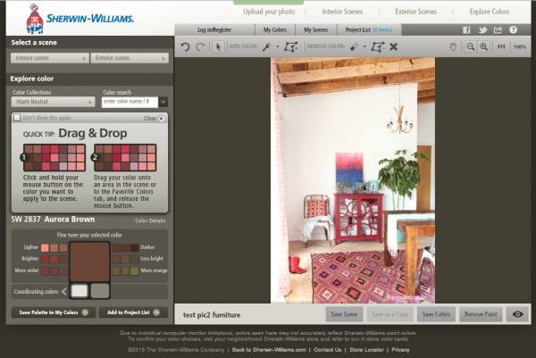 Remodelaholic how to test a paint color before you buy it Online visualizer