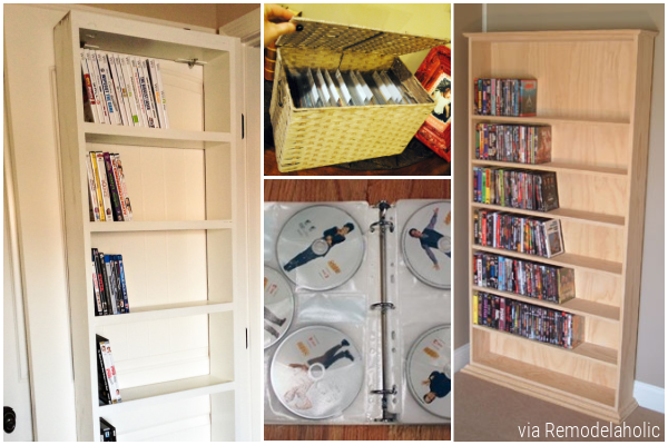 Storage For DVDs, Seven Ideas On Remodelaholic