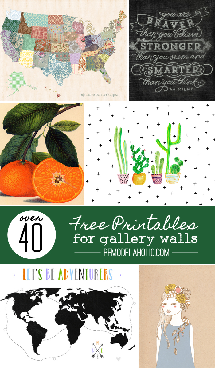 Free Wall Printables Remodelaholic 40 Free Art Printables For Gallery Walls