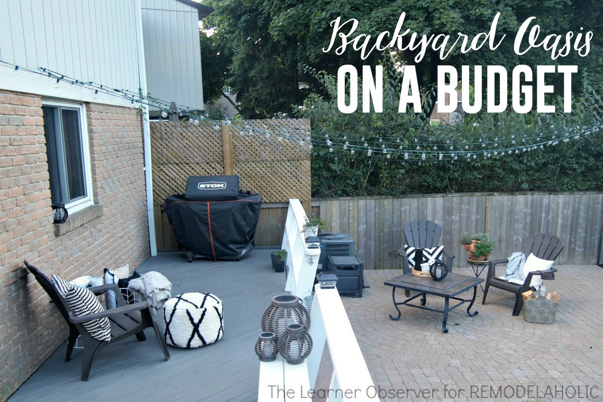 Remodelaholic transform your backyard into an oasis on a for Backyard remodel ideas on a budget