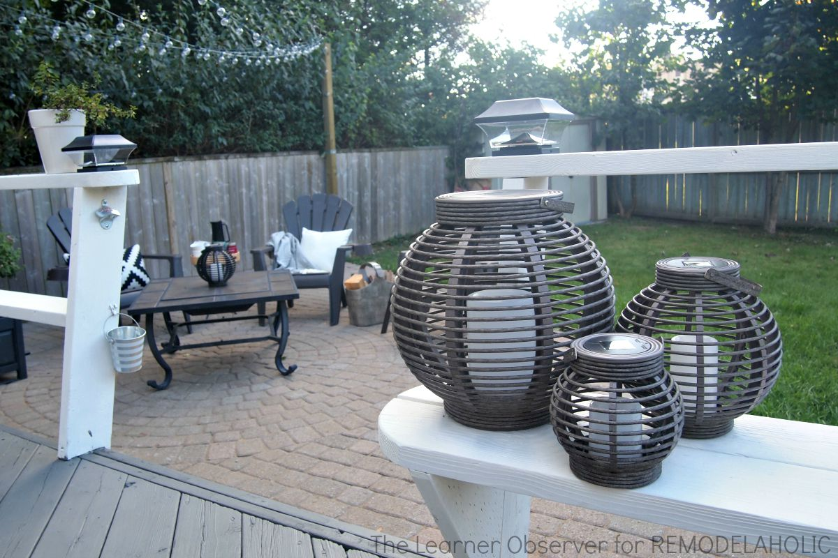 Remodelaholic transform your backyard into an oasis on a for Deck makeover on a budget