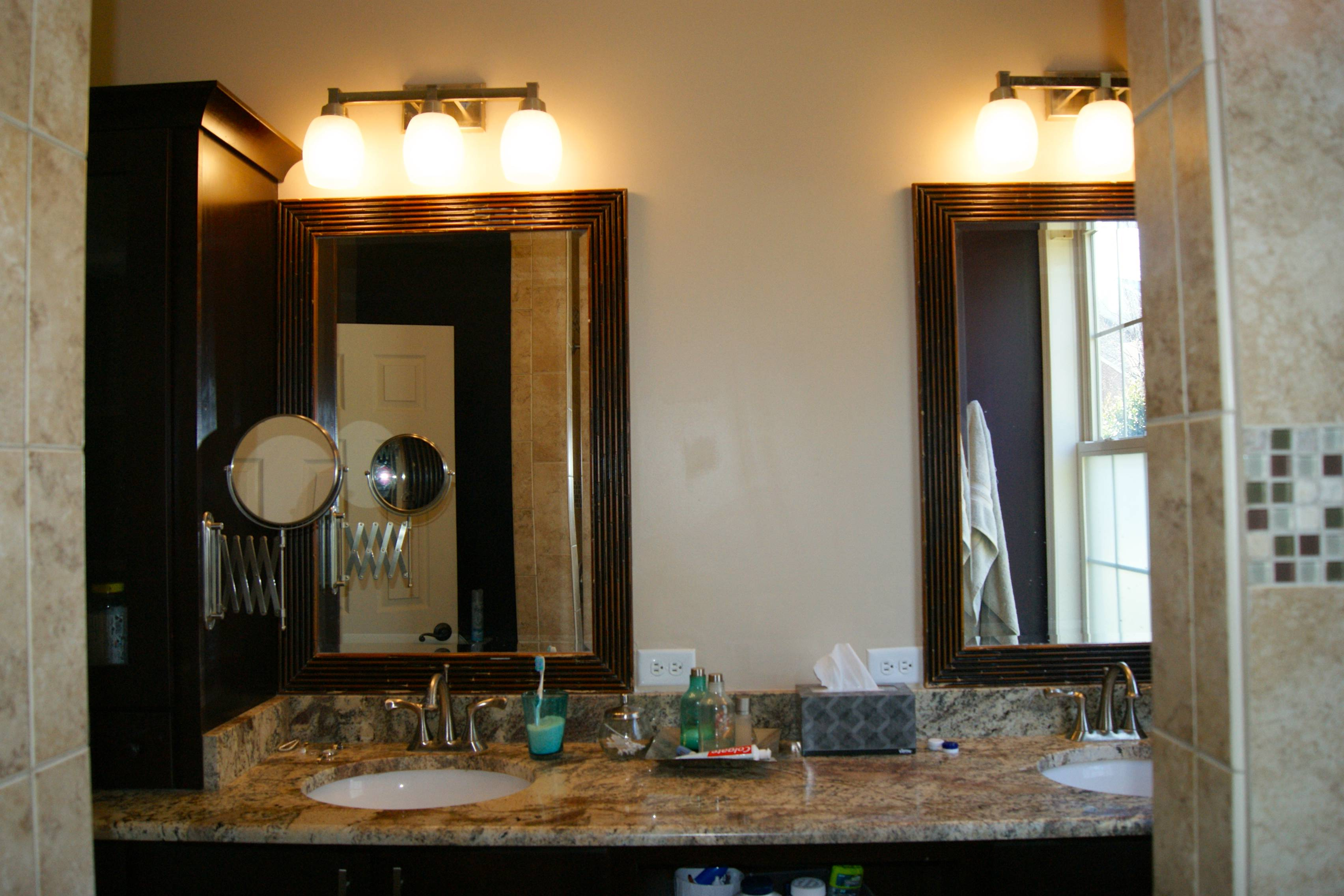 Bathroom Remodel With Shelf Before