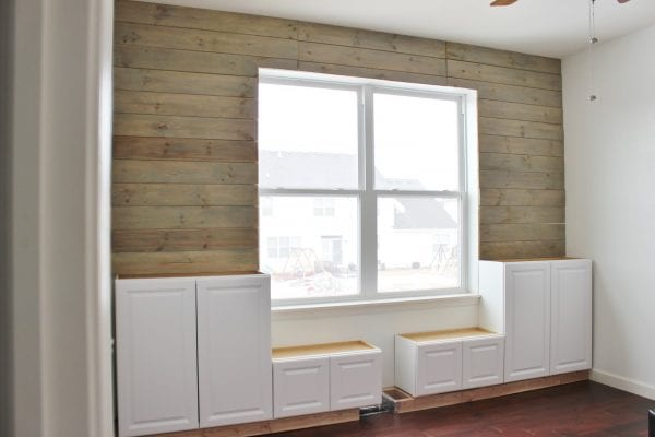Built-In Storage Cabinets for Playroom by Delightfully Noted featured on Remodelaholic
