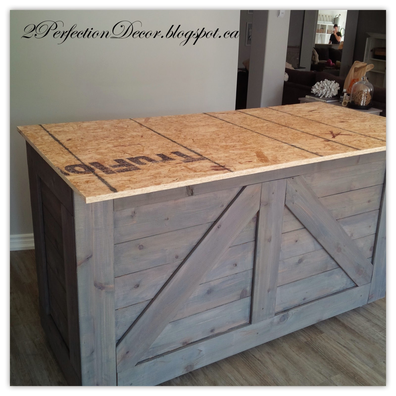 Remodelaholic | IKEA Hack Rustic Bar with Galvanized Metal Top
