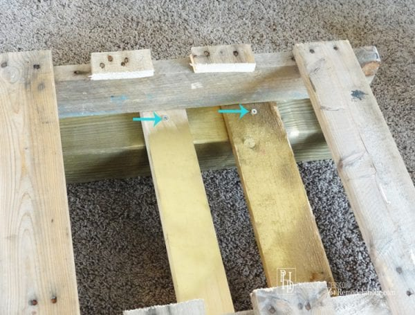 DIY mini cornhole boards from a pallet, Provident Home Design on Remodelaholic