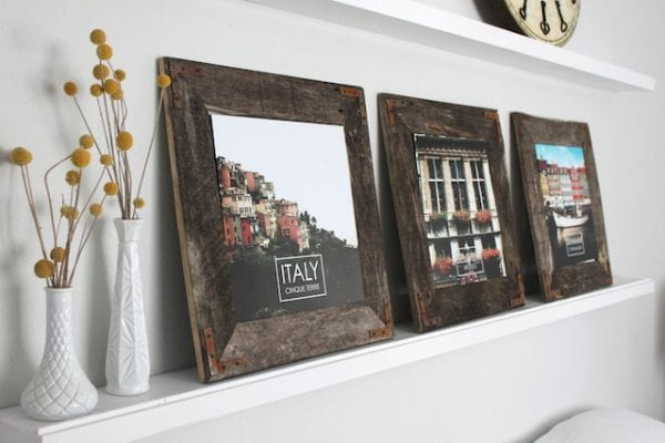 DIY Industrial Picture Frame by The Winthrop Chronicles featured by Remodelaholic