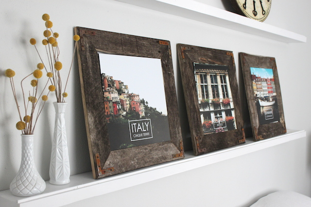 diy industrial picture frame by the winthrop chronicles featured by remodelaholic - Diy Rustic Picture Frame