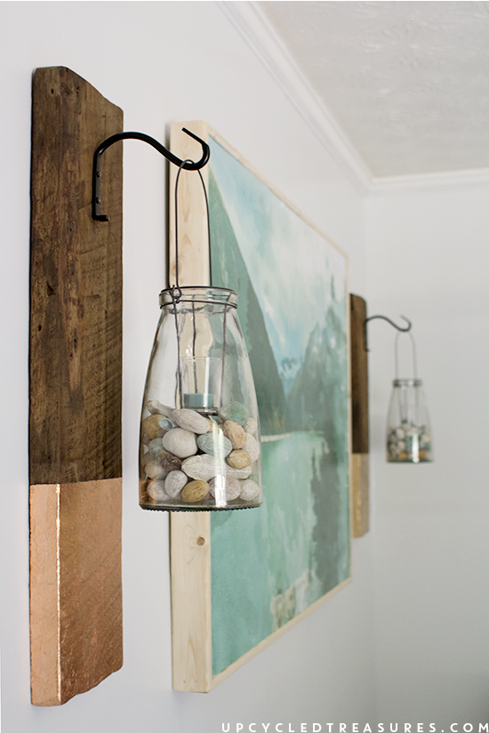 Elegant DIY Large Scale Wall Art with Wood Frame by Upcycled Treasures for Remodelaholic