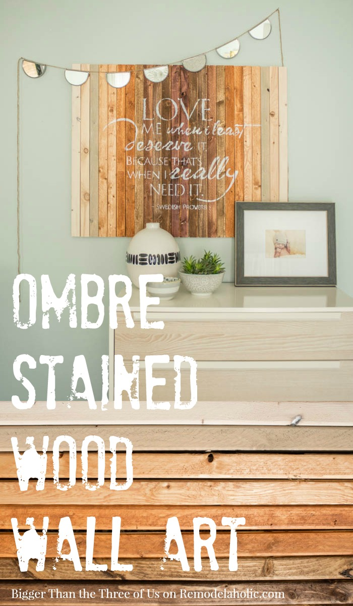 New DIY Ombre Stained Wood Wall Art Tutorial