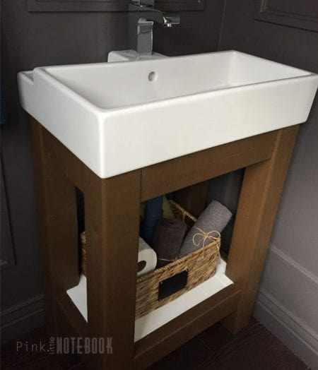 Remodelaholic Ikea Hack How To Build A Small Diy Bathroom Vanity