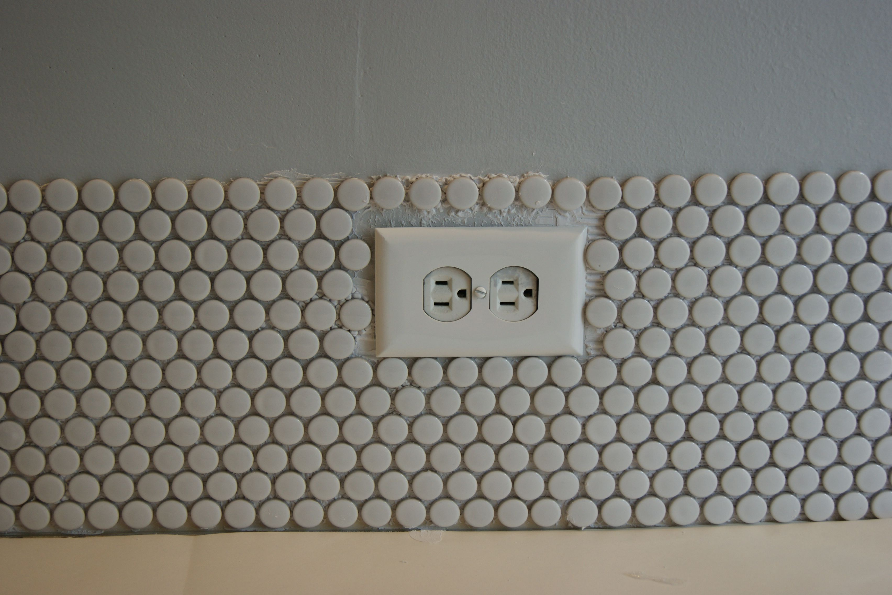 Remodelaholic tips for installing a penny tile backsplash installing penny tile how to dailygadgetfo Gallery