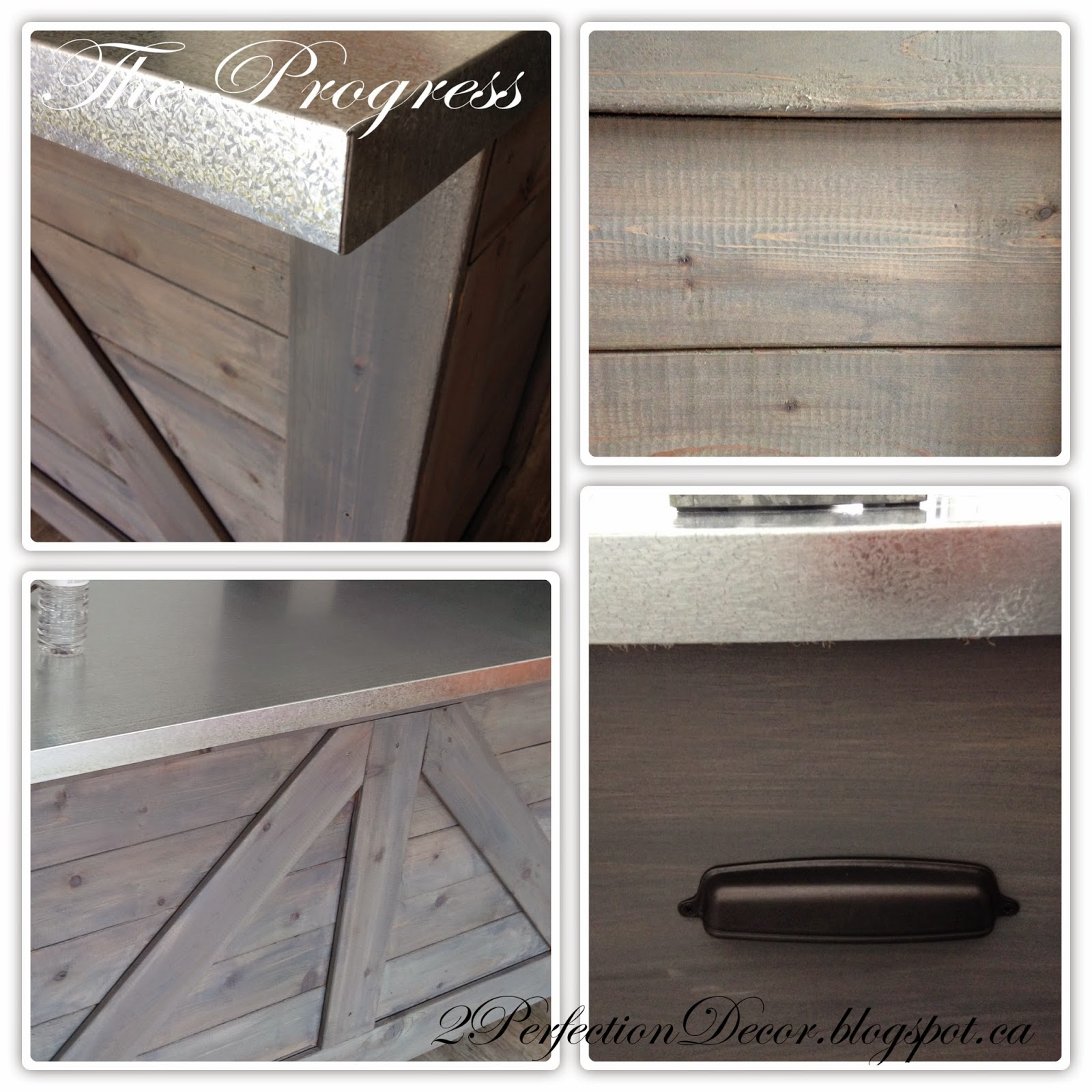 diy rustic bar. DIY Rustic Wooden Bar by 2Perfection Decor Blog featured on Remodelaholic  IKEA Hack with Galvanized Metal Top