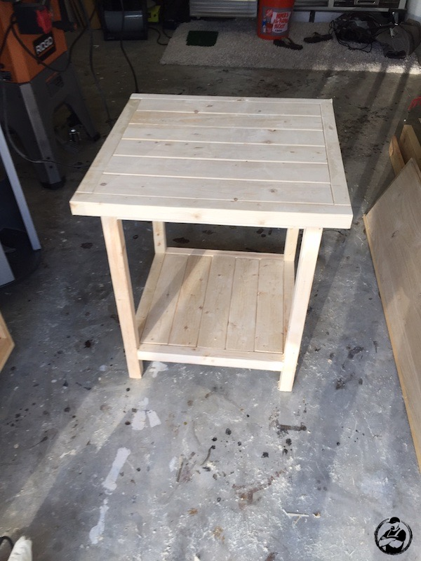 DIY Simple Square Side Table Plans - Step 12