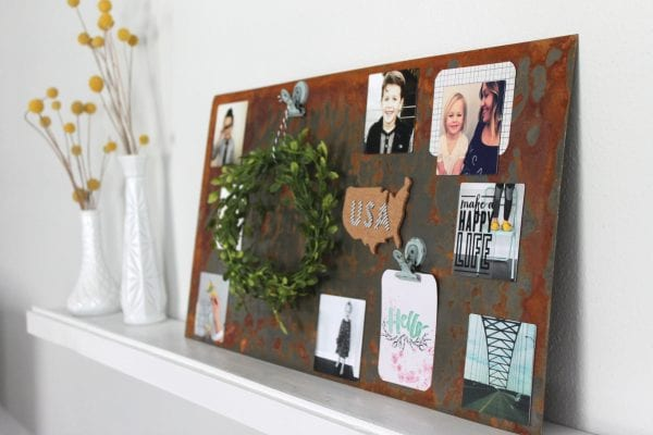 DIY Weathered Industrail Wall Art by The Winthrop Chronicles featured on Remodelaholic