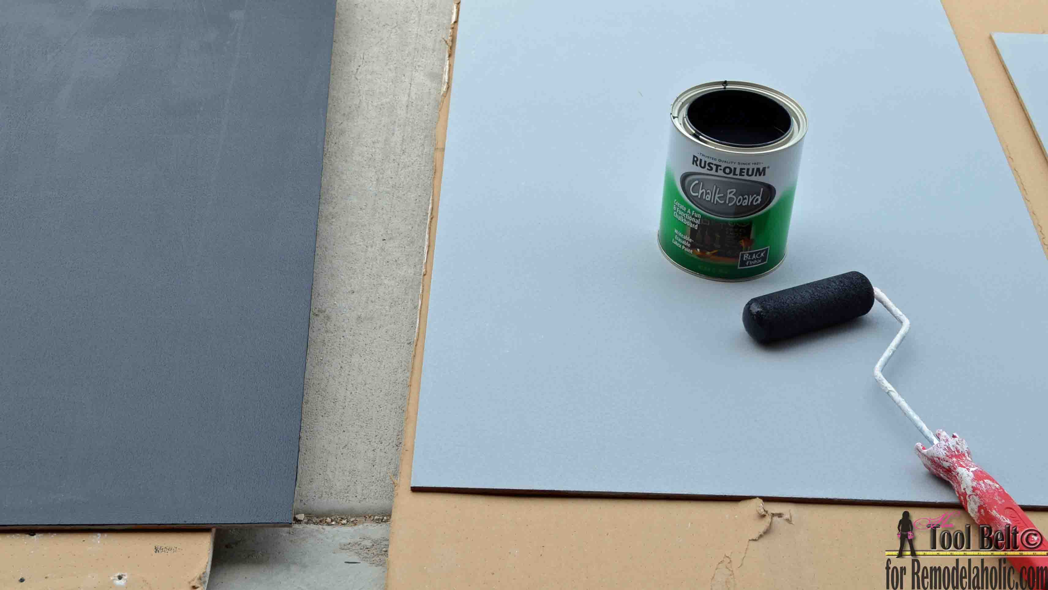 Remodelaholic diy chalkboard easel build a super cute large diy chalkboard easel to create the perfect sign for your next geotapseo Choice Image