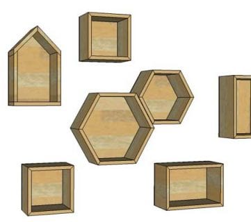 DIY Geometric Display Shelves