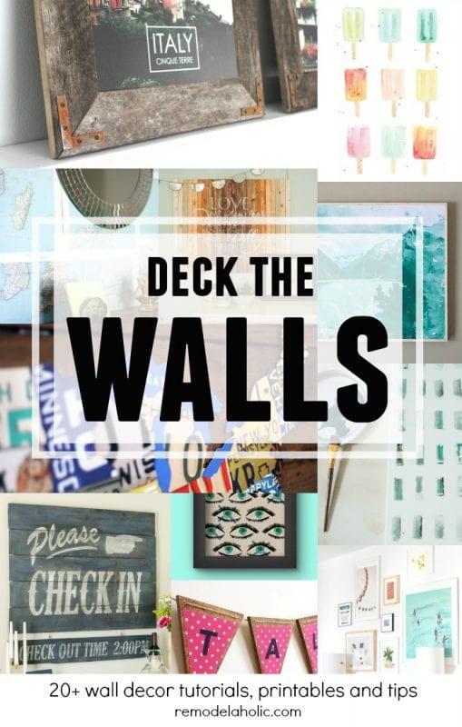 DIY Wall Decor Ideas: 50 Affordable DIY Ways to Decorate an Empty Wall