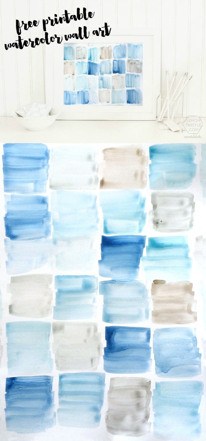 Watercolor Wall Art remodelaholic | free printable watercolor art
