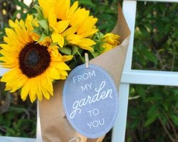 Printable Garden Gift Tags @Remodelaholic