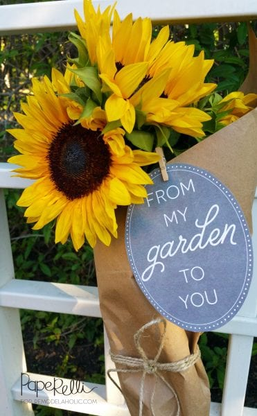 Printable Garden Gift Tags @Remodelaholic