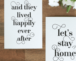 Free Art Printables for your home. These modern designs would also make a wonderful housewarming, anniversary or wedding gift! Design by Elegance & Enchantment for Remodelaholic.