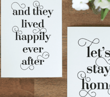 Free Typographic Art Prints for your Home