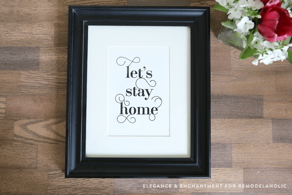Fancy Typographic Word Art Printables For Couples | let's stay home
