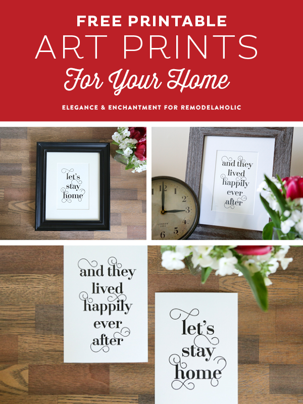 Free Typographic Art Printables for your home. These modern designs would also make a wonderful housewarming, anniversary or wedding gift! Design by Elegance & Enchantment for Remodelaholic.