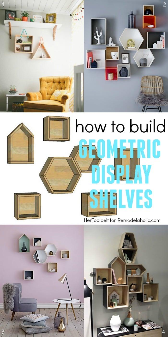 Remodelaholic Diy Geometric Display Shelves