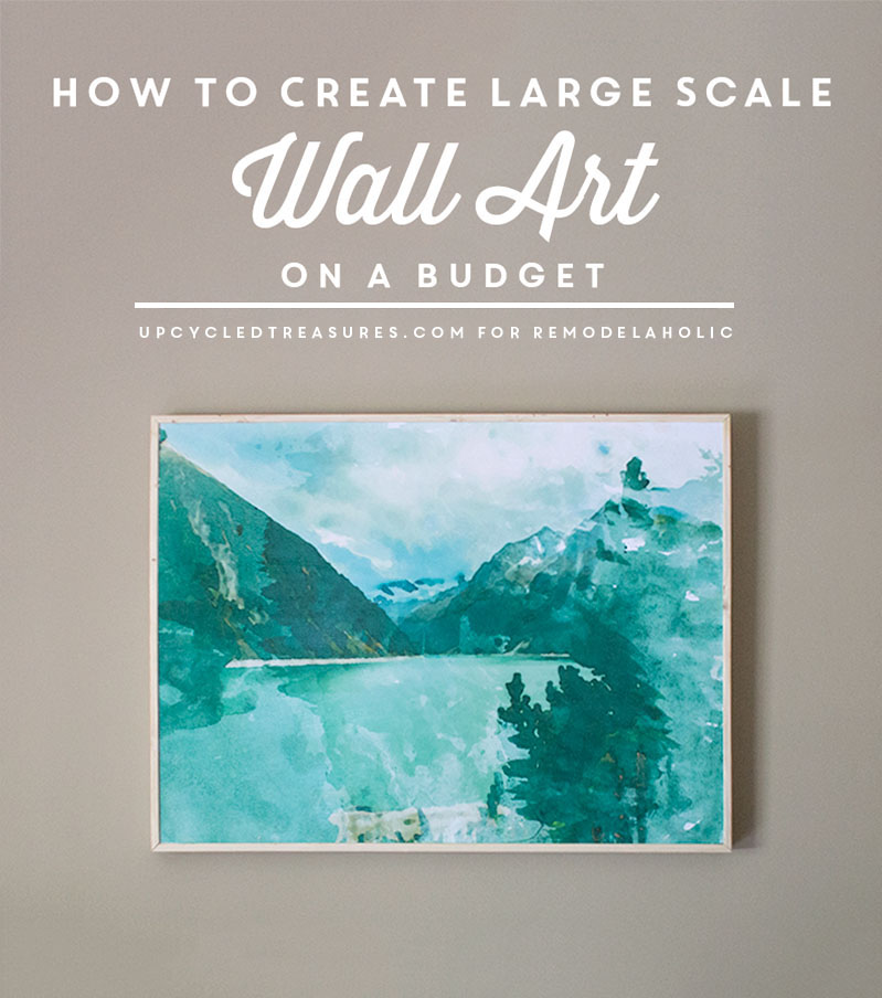 Inexpensive Art remodelaholic | inexpensive diy large scale wall art