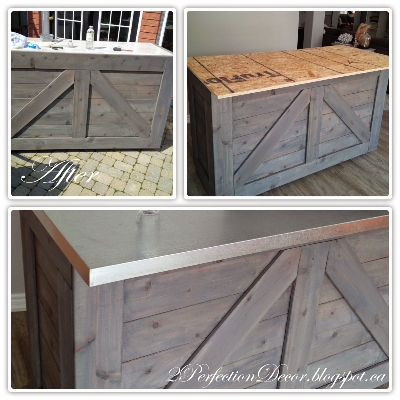 Charmant IKEA Hack Rustic Bar With Galvanized Metal Top | Remodelaholic | Bloglovinu0027