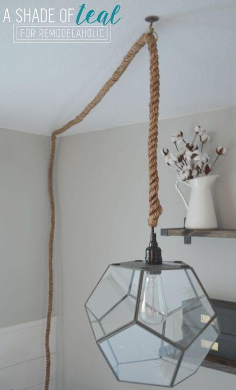 How to Turn a Terrarium into a Light Fixture