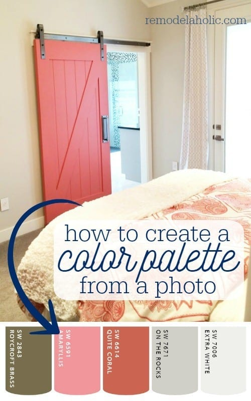 How to create a paint color palette from a photo. 6 free apps that make it easy. Great for decorating a cohesive room and home! @Remodelaholic