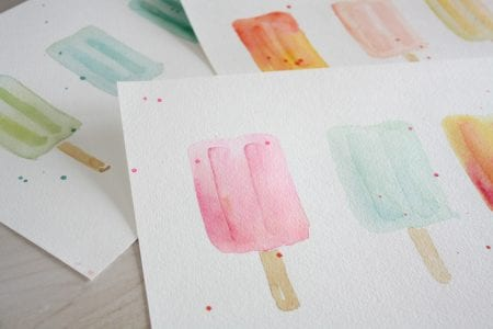 popsicle watercolor prints