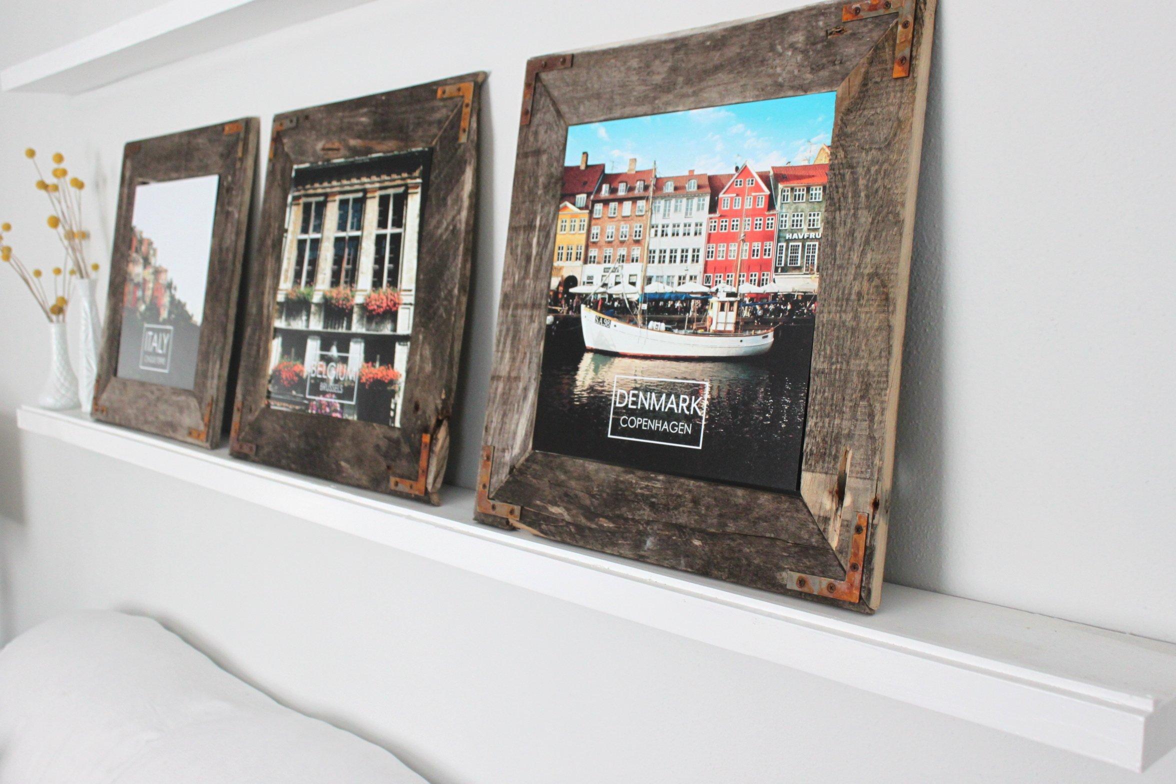 EveJulien: Easy DIY Rustic Industrial Picture Frame