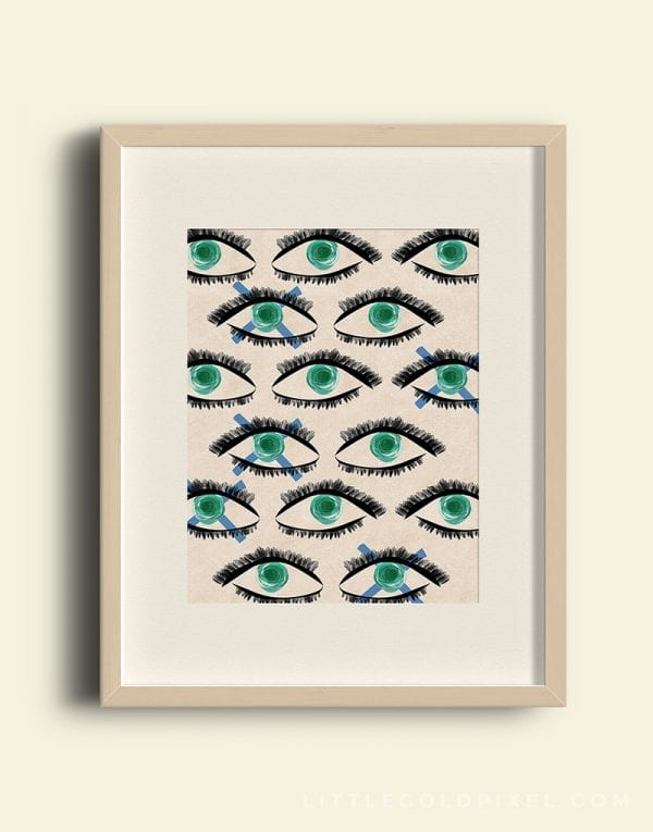 Free Download: Kaleidoscope Eyes, modern art printable by Little Gold Pixel for Remodelaholic
