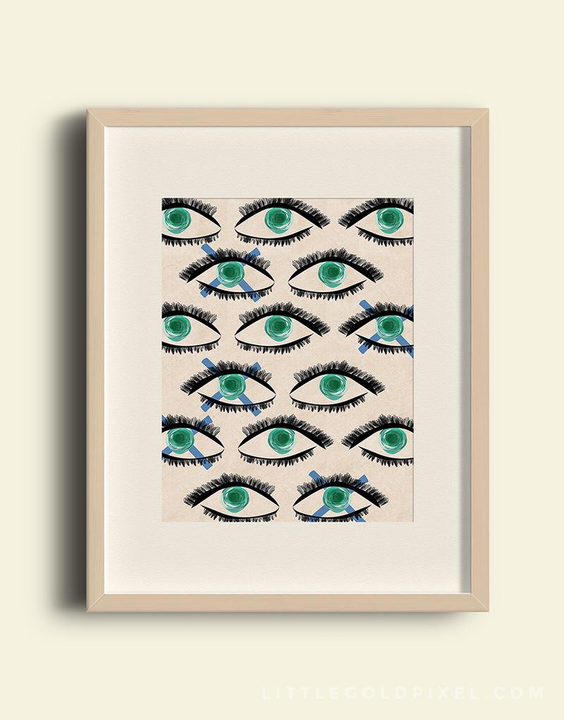 remodelaholic | free modern art printable: kaleidoscope eyes