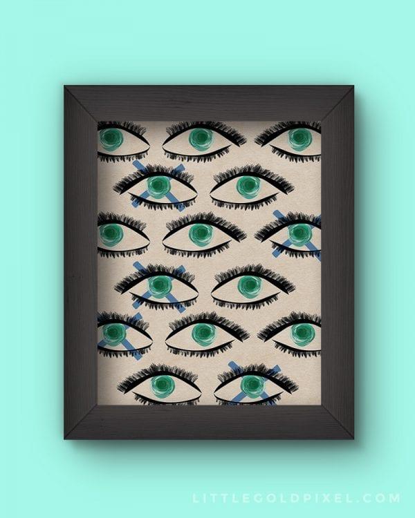 Kaleidoscope Eyes   Modern Art Free Printable