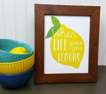 Free Lemon Printable Art