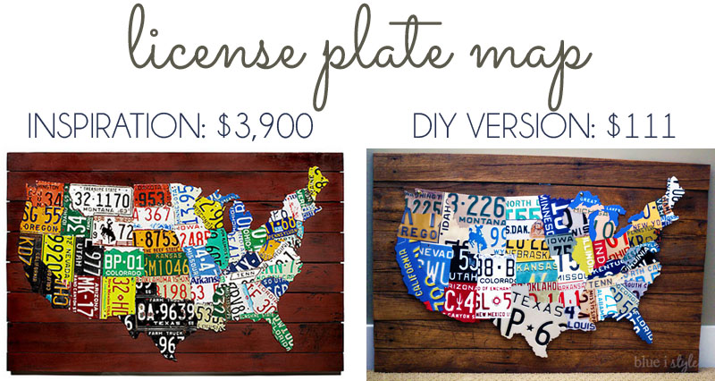 sc 1 st  Remodelaholic & Remodelaholic | License Plate Map Wall Art