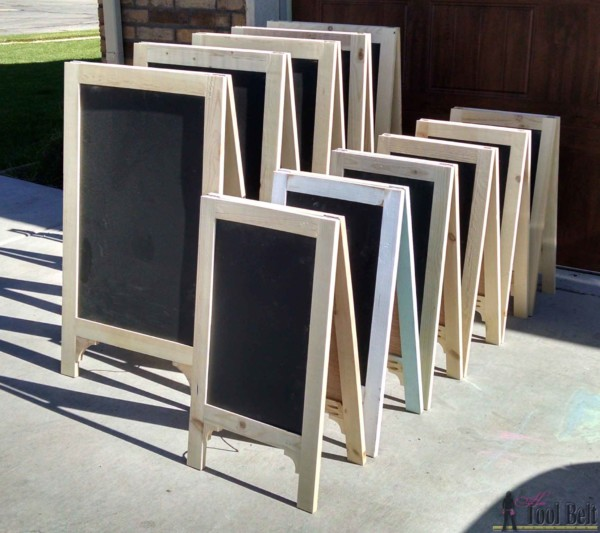 Build Standing A-Frame Chalkboard Easel Signs
