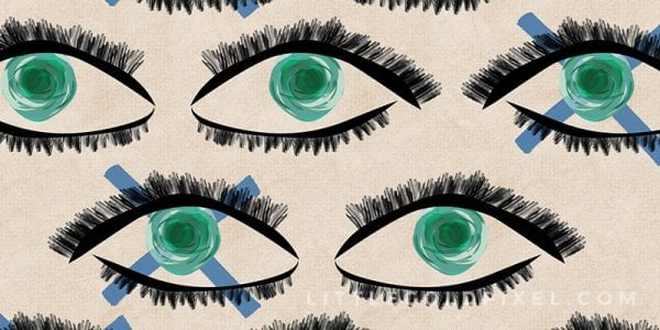 Modern Art Kaleidoscope Eyes Printable by Little Gold Pixel featured on Remodelaholic