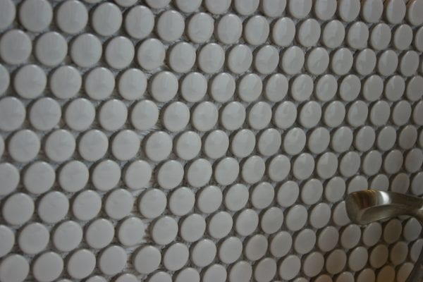 How to install a penny tile backsplash