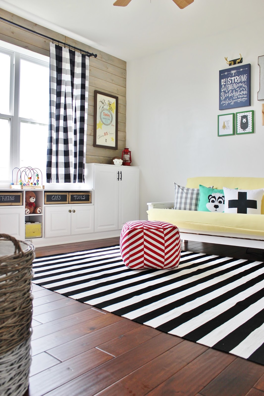 Playroom Makeover with Built-In Cabinets for Storage | Remodelaholic ...