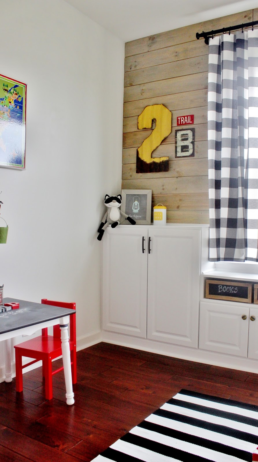 EveJulien Playroom Makeover with Built In Cabinets for