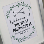Wi-fi Password Printable