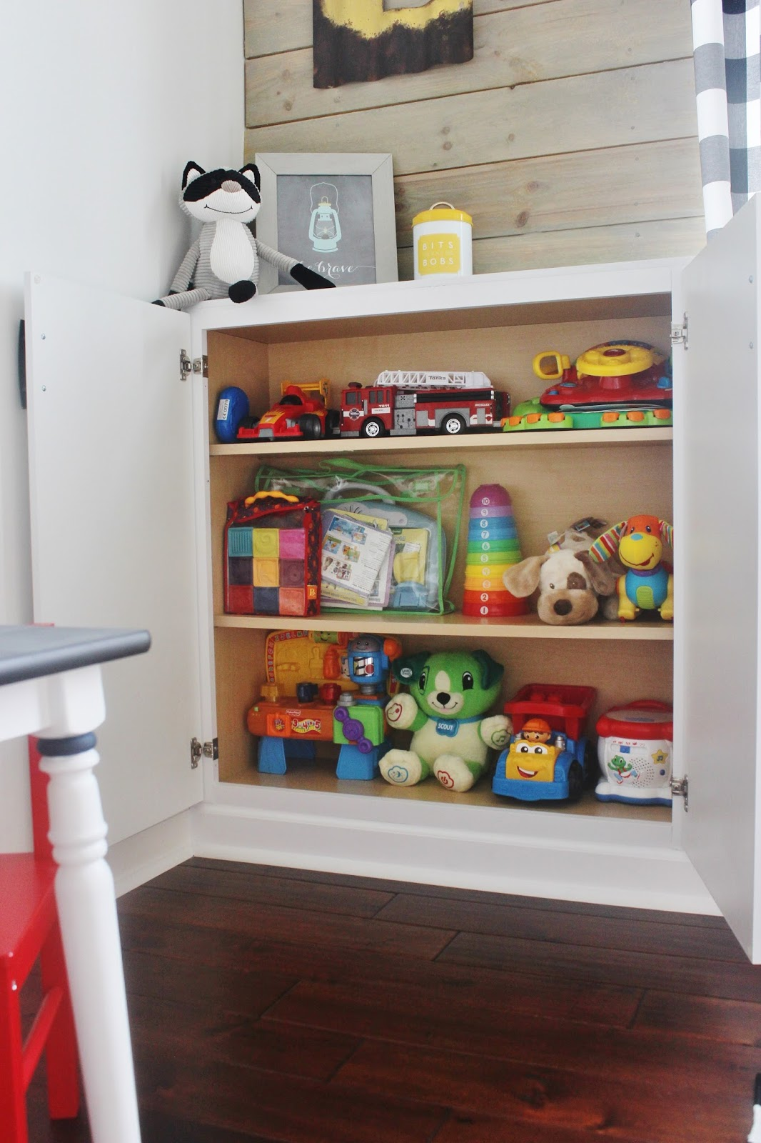 Remodeled Playroom With Built In