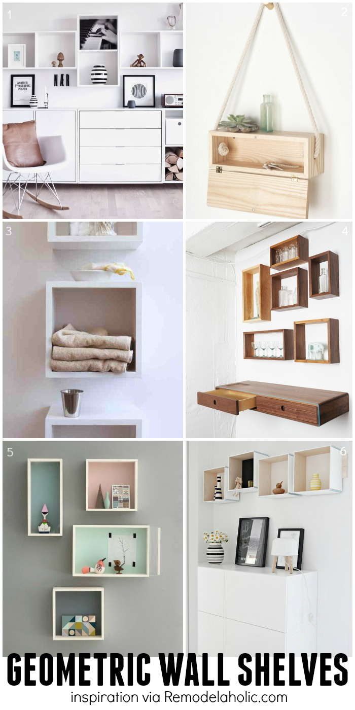 Remodelaholic diy geometric display shelves square and rectangle geometric shelves inspiration plus a building plan for the easy geometric shelves amipublicfo Gallery